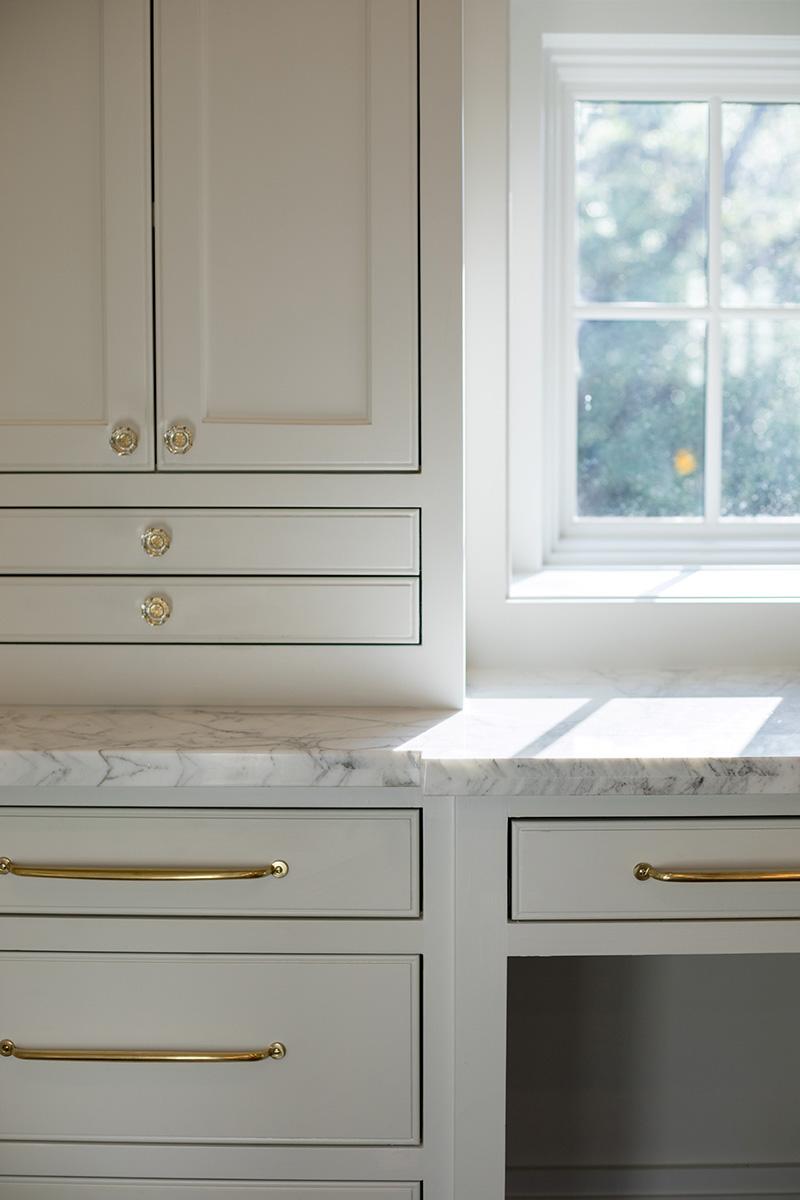 luxury master vanity, built-in cabinets