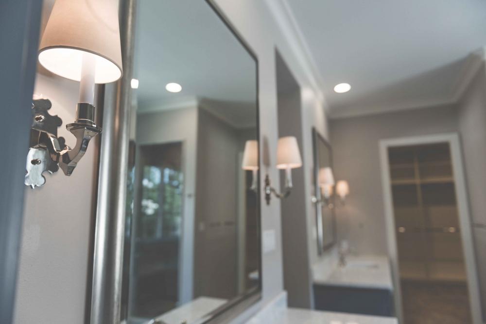 custom restroom lighting, custom sconces