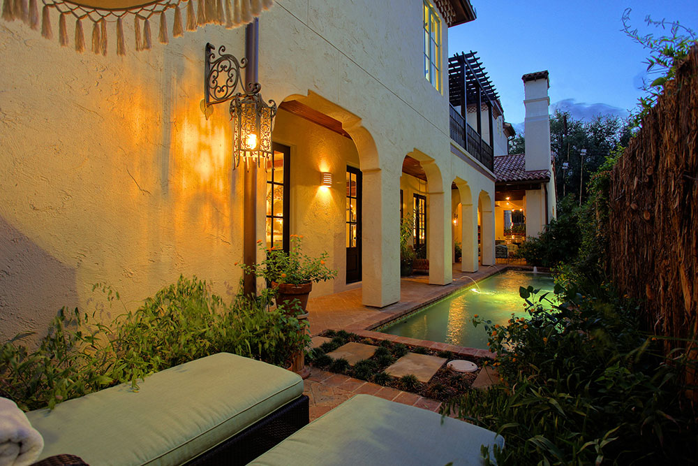 Custom Outdoor Living Area, Spanish-Colonial-Style