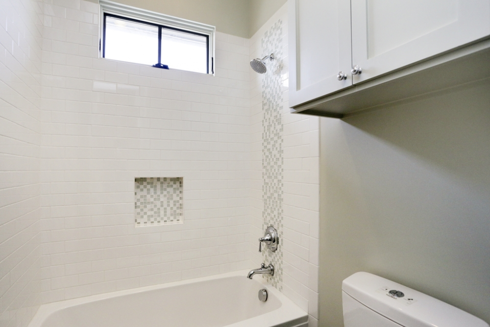 custom restroom with soap niche