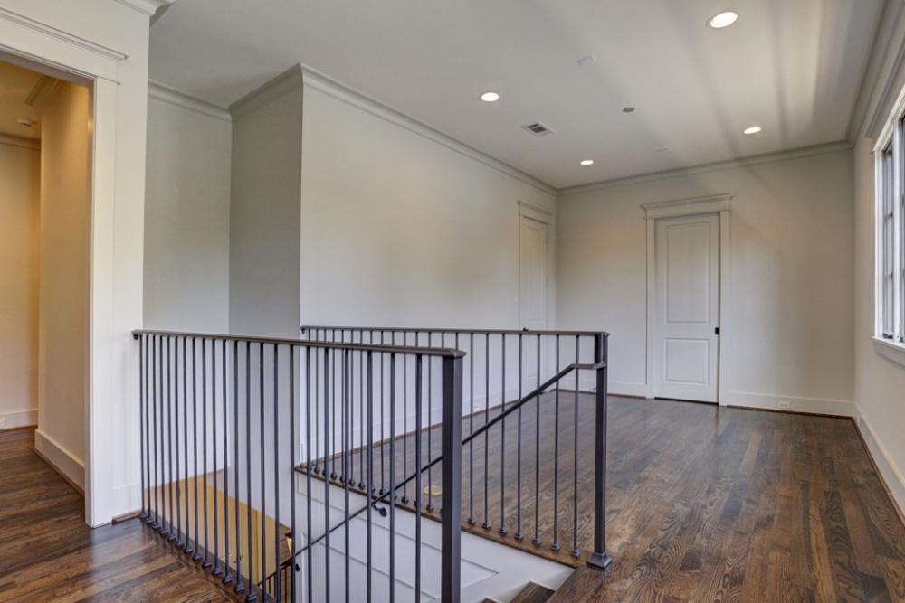 custom railing upstairs