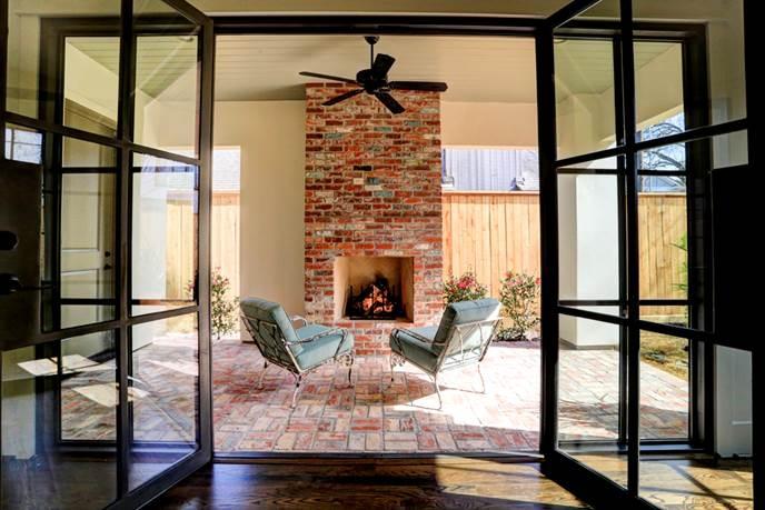 custom home with outside retreat