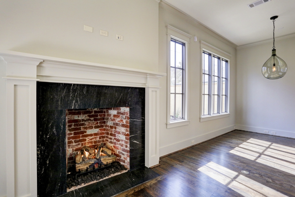 custom fireplace, west u