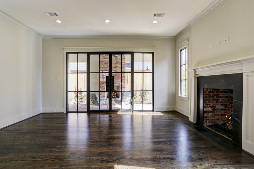 West U custom wood floors in livingroom
