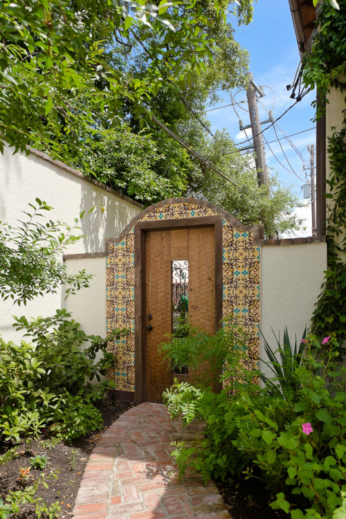 custom spanish colonial style outdoor gate