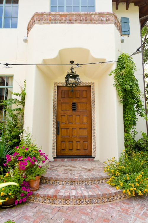 Kirby-Spanish-colonial-custom-home, custom wood door