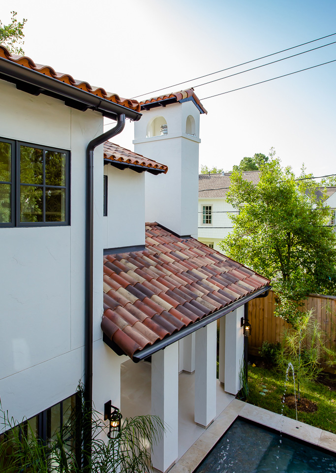 Spanish with a Contemporary Vibe custom roof