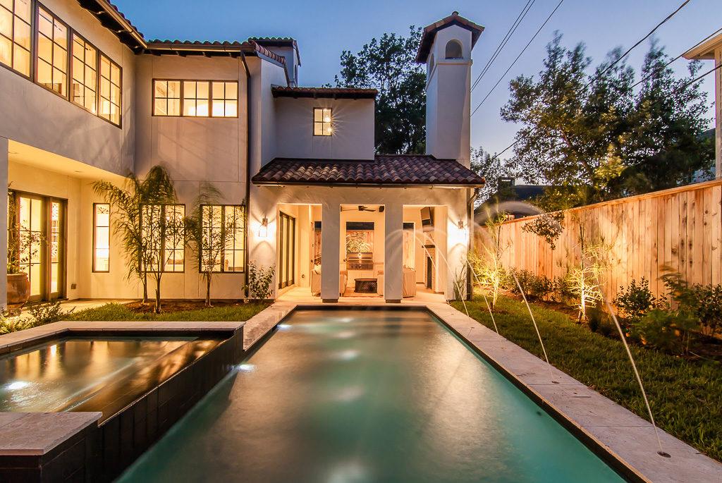 luxury cutom backyard with pool