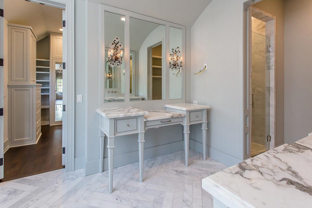 american-vernacular, master bath, custom dressing table