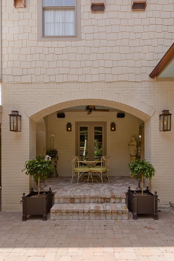 Custom Preservation & Remodel in River Oaks, outdoor living, outdoor table