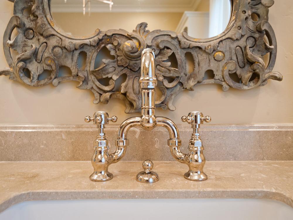 powder room faucet, Mirador-French-Provencal-Style, custom home builder
