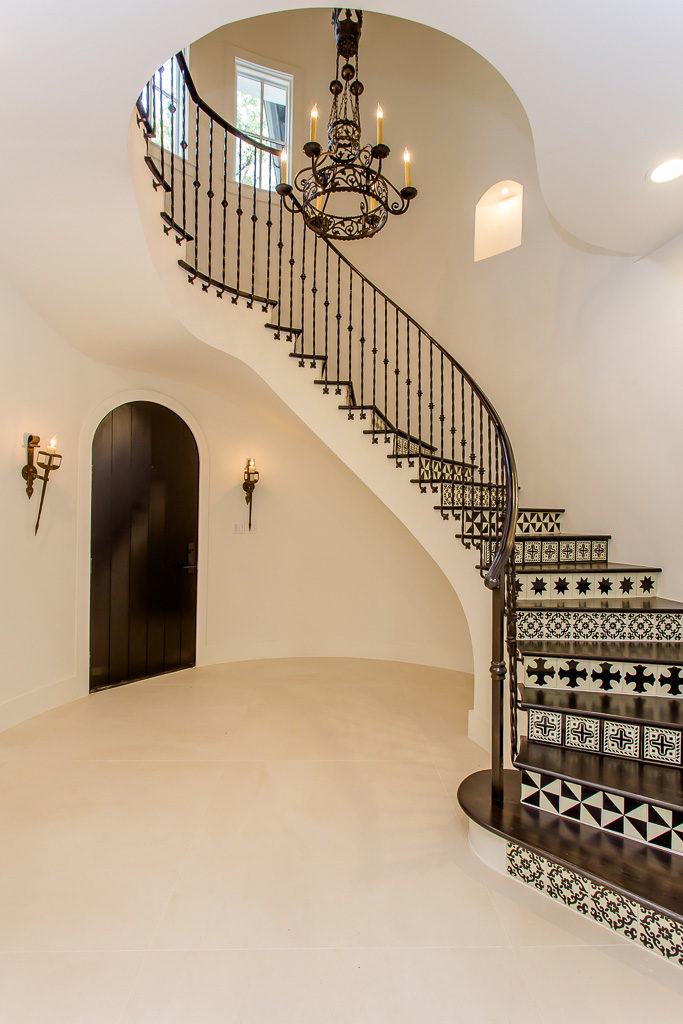 Spanish-with-a-Contemporary-Vibe-front door and staircase