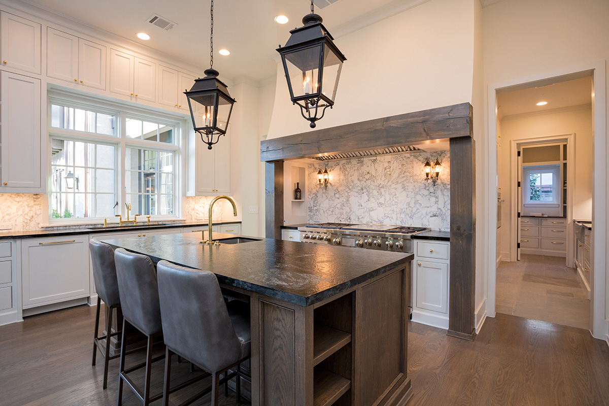 river oaks luxury custom home kitchen