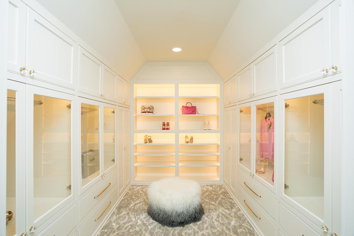 luxury custom closet for party dresses