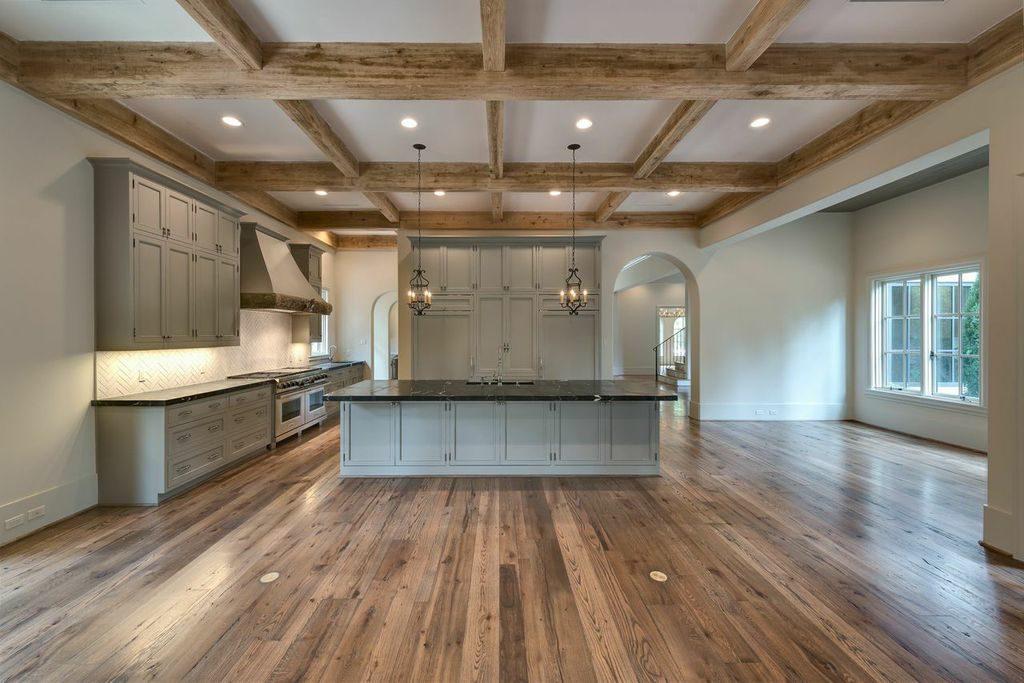 Mirador builders Mediterranean Revival style custom home, living and greatroom