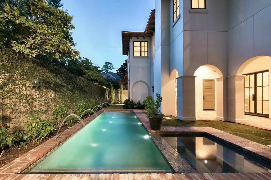mirador builders swimming pool, garden area