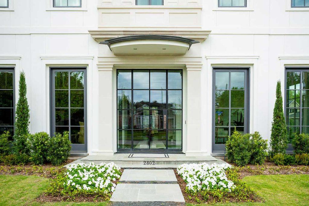 Federal Style Cusom Home West University, West U custom front door