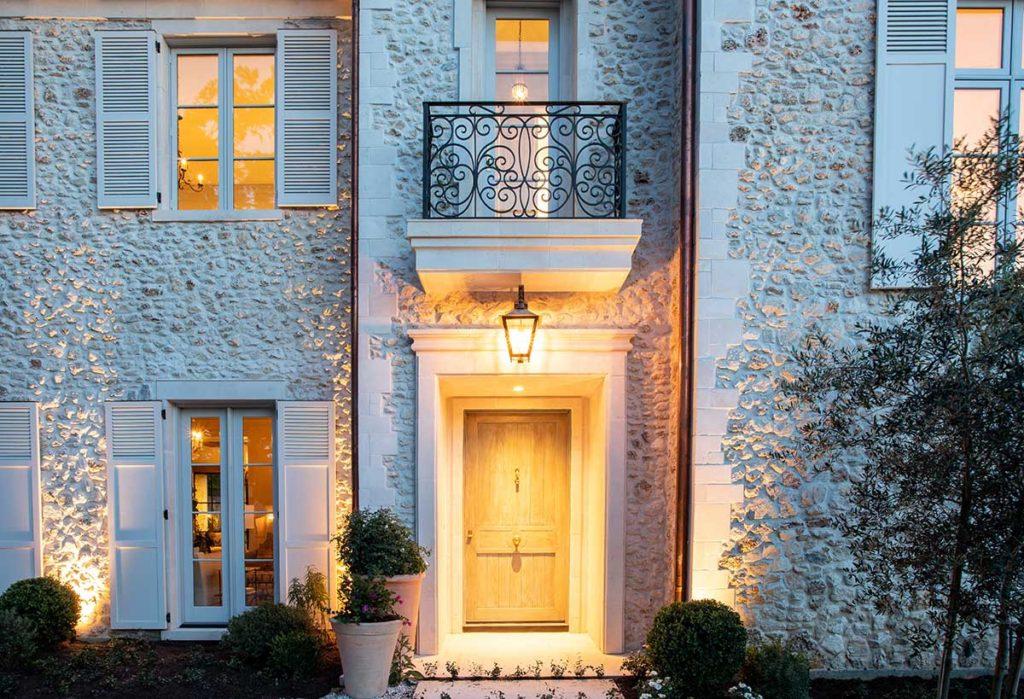 River Oaks Custom Home front entrance